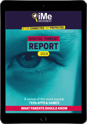 THREAT REPORT 2018 - Cover image on ipad2
